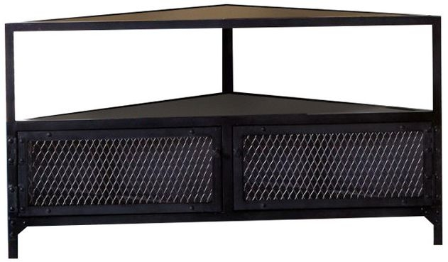 Indian Hub Ascot Industrial Corner TV Unit