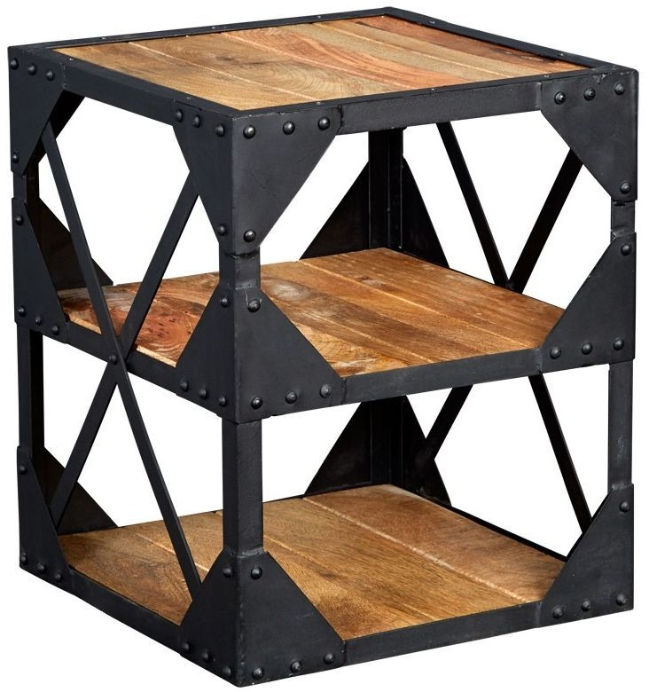 Indian Hub Ascot Industrial Side Table