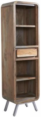 Indian Hub Aspen Iron and Wood Narrow Bookcase
