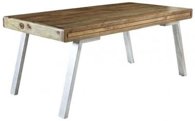 Indian Hub Aspen Iron and Wood Dining Table