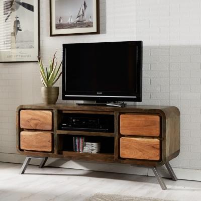 Indian Hub Aspen Iron and Wooden Greeno TV Media Unit