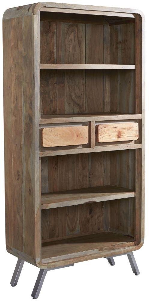 Indian Hub Aspen Iron and Wood Large Bookcase