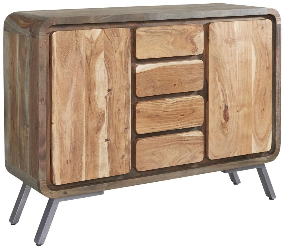 Indian Hub Aspen Iron and Wood Sideboard