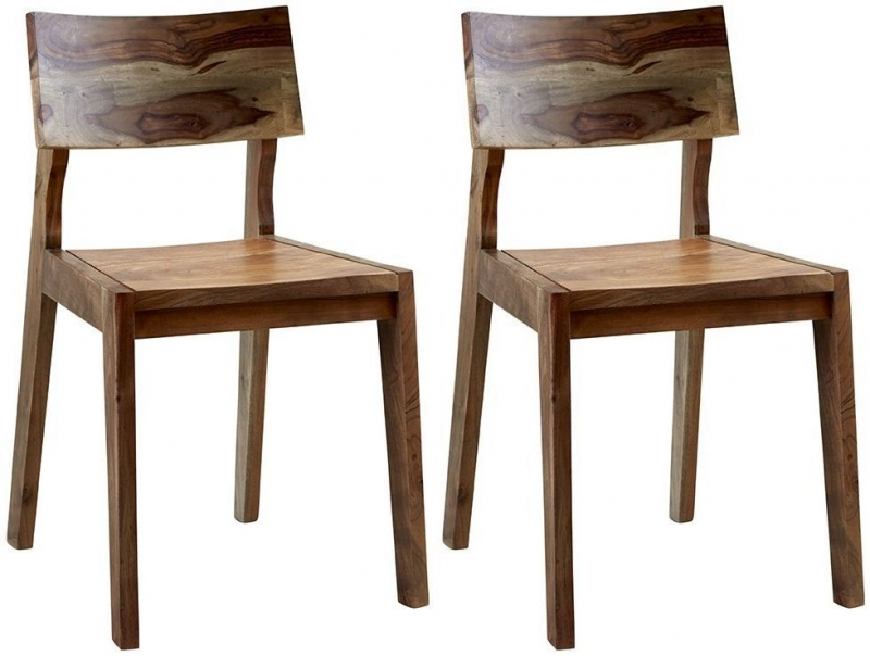 Indian Hub Aspen Iron and Wood Dining Chair (Pair)