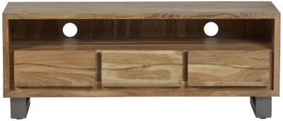 Indian Hub Baltic Live Edge Media Unit