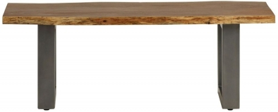 Indian Hub Baltic Live Edge Medium Dining Bench