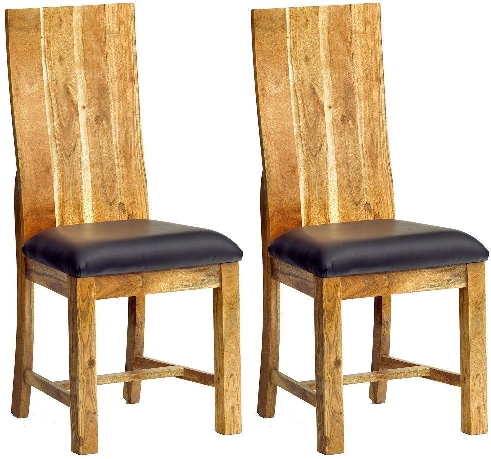 Indian Hub Baltic Live Edge Dining Chair (Pair)