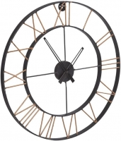 Indian Hub Lincoln Industrial Metal Clock
