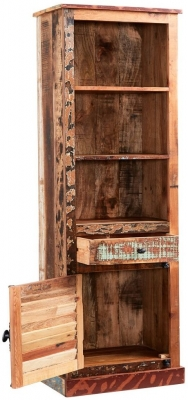 Indian Hub Coastal Reclaimed Wood Bookcase