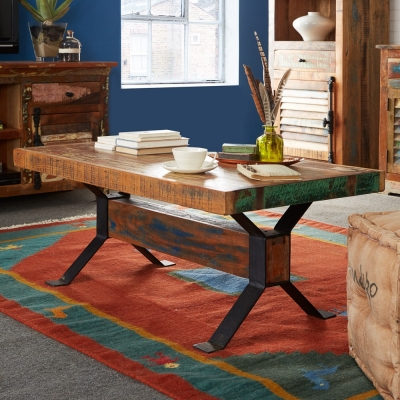 Indian Hub Coastal Reclaimed Wood Coffee Table