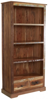 Indian Hub Coastal Reclaimed Wood Large Bookcase