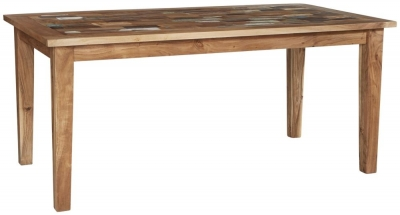 Indian Hub Coastal Reclaimed Wood Large Dining Table