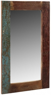 Indian Hub Coastal Reclaimed Wood Mirror - 60cm x 100cm