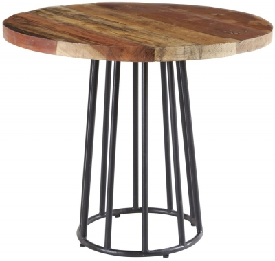 Indian Hub Coastal Reclaimed Wood Round Dining Table