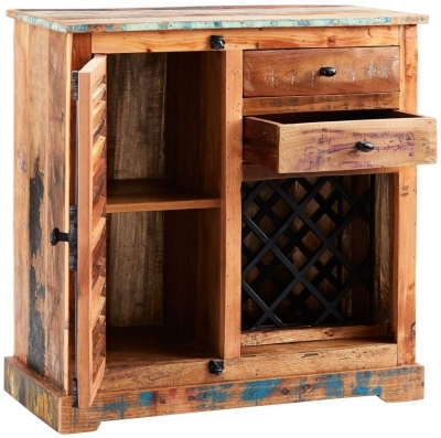 Indian Hub Coastal Reclaimed Wood Small Sideboard