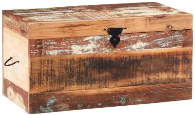 Indian Hub Coastal Reclaimed Wood Trunk Box