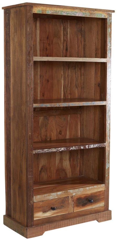 Indian Hub Coastal Reclaimed Wood Large Bookcase