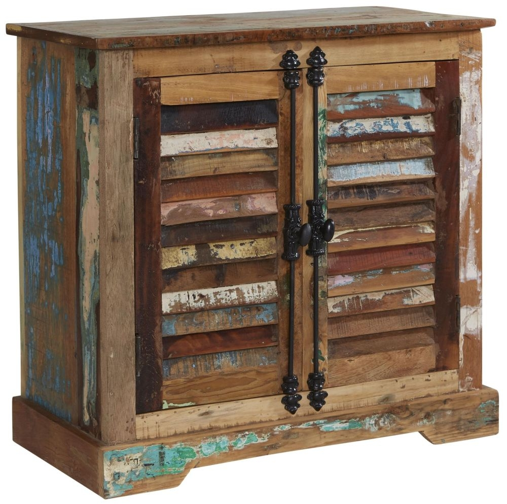 Indian Hub Coastal Reclaimed Wood Sideboard