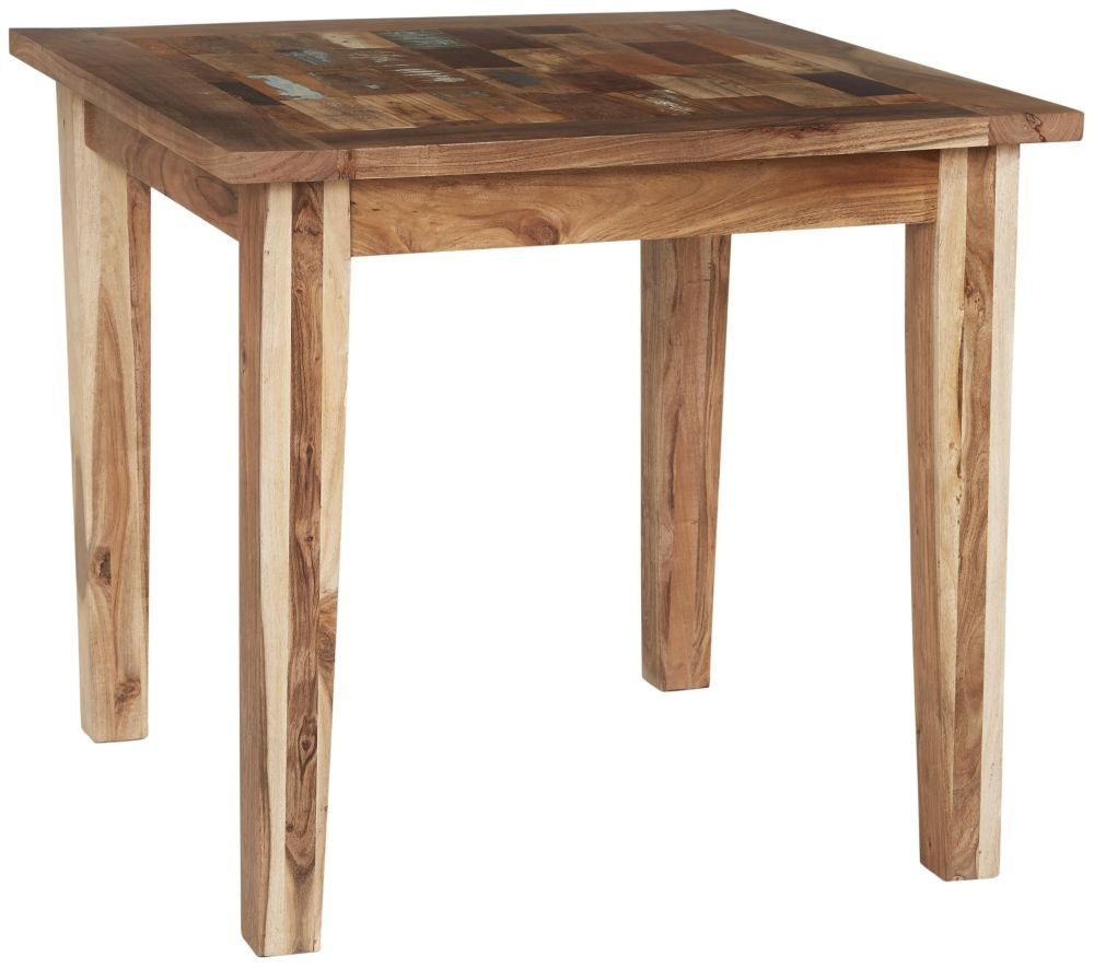 Indian Hub Coastal Reclaimed Wood Small Dining Table