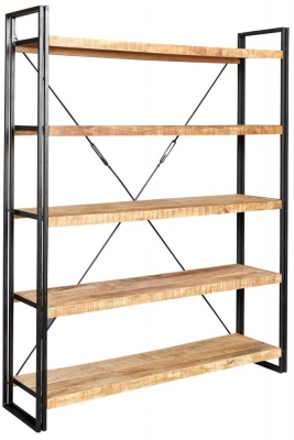 Indian Hub Cosmo Industrial Bookcase - Large Open