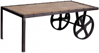 Indian Hub Cosmo Industrial Coffee Table - Cart
