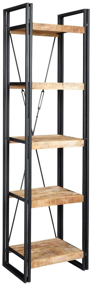 Indian Hub Cosmo Industrial Bookcase - Slim Open