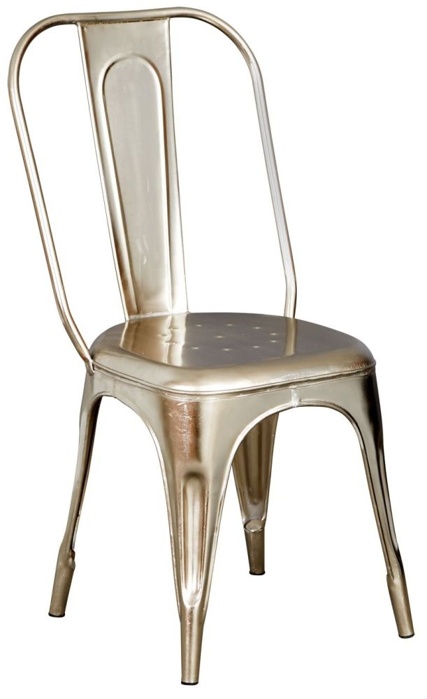 Indian Hub Cosmo Industrial Chair - Silver