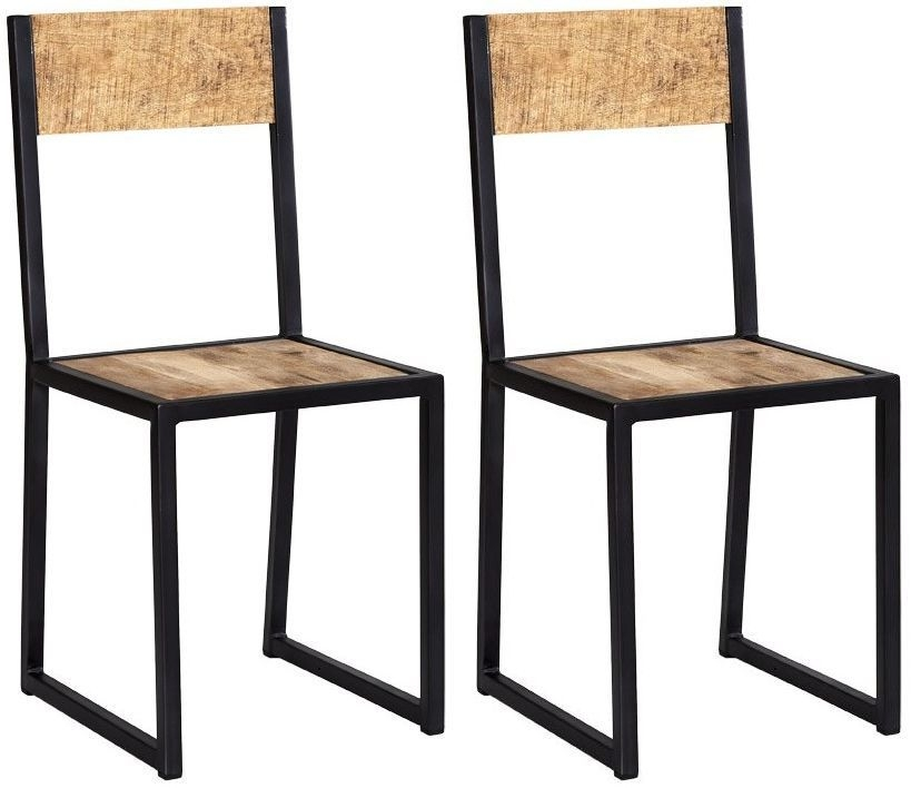 Indian Hub Cosmo Industrial Dining Chair (Pair)