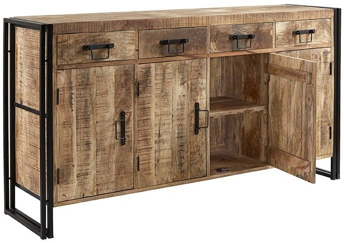 Indian Hub Cosmo Industrial Large Sideboard