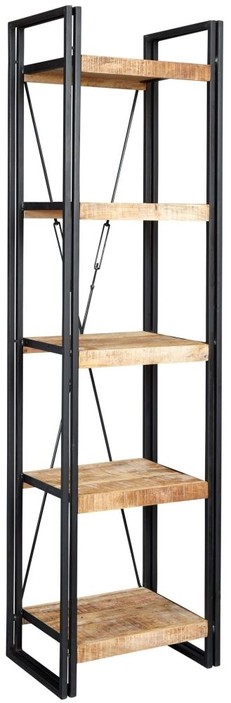 Indian Hub Cosmo Industrial Open Slim Bookcase