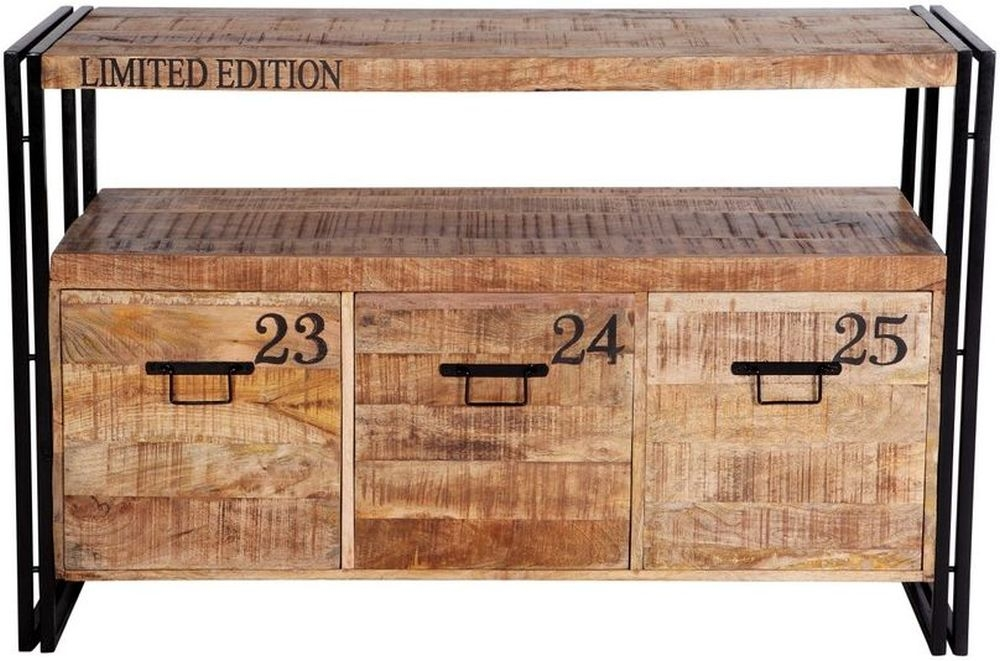 Indian Hub Cosmo Industrial Sideboard with 3 Drawer | Indian Hub