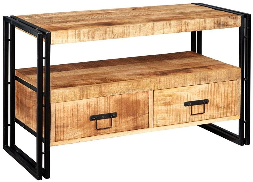 Indian Hub Cosmo Industrial 2 Drawer TV Stand