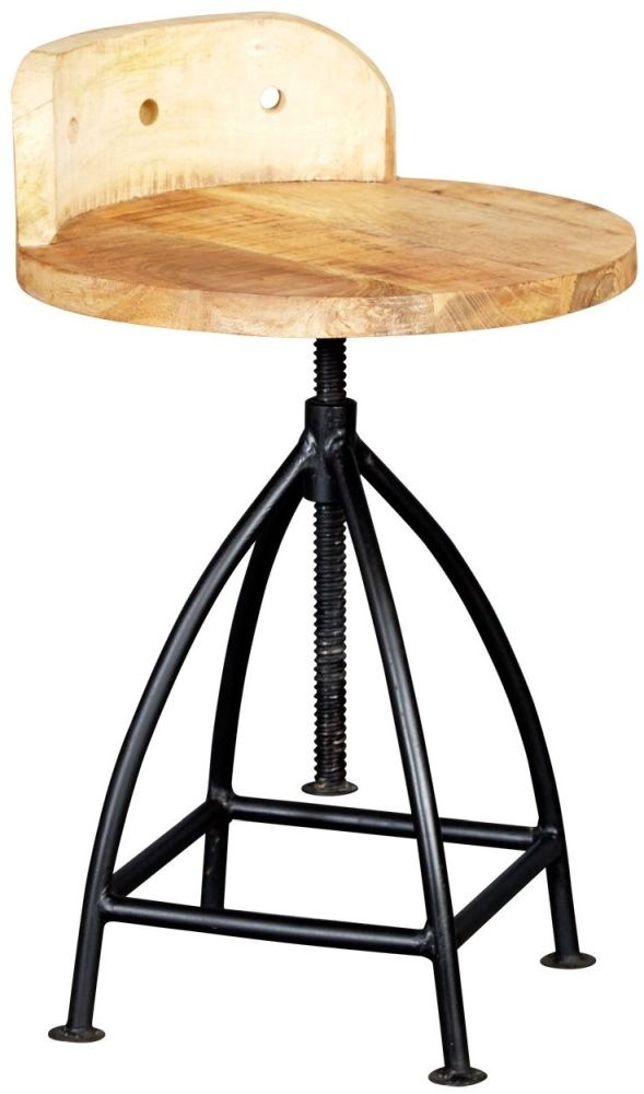 Indian Hub Cosmo Industrial Wooden Chair