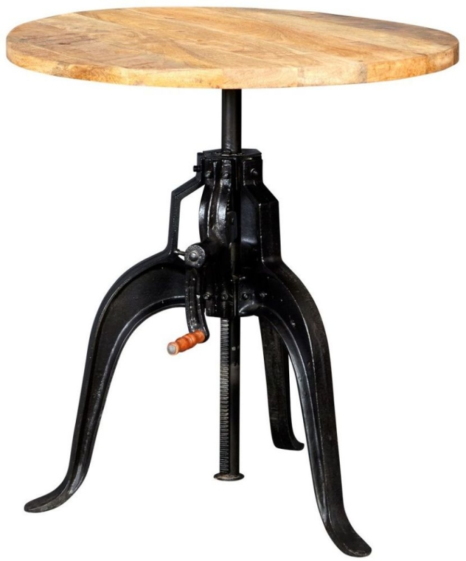 Indian Hub Cosmo Industrial Large Crank Table