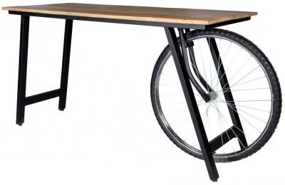 Indian Hub Craft Wheel Industrial Desk