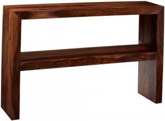 Indian Hub Cube Sheesham Console Table with Shelf