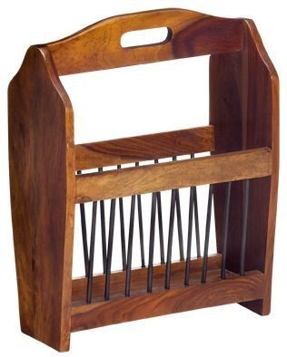 Indian Hub Cube Sheesham Magazine Rack