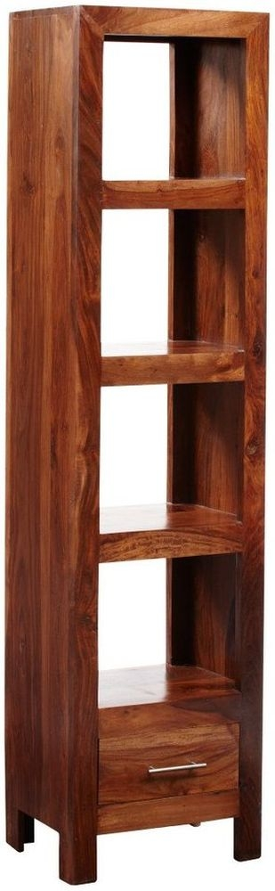 Indian Hub Cube Sheesham Bookcase - Slim Jim