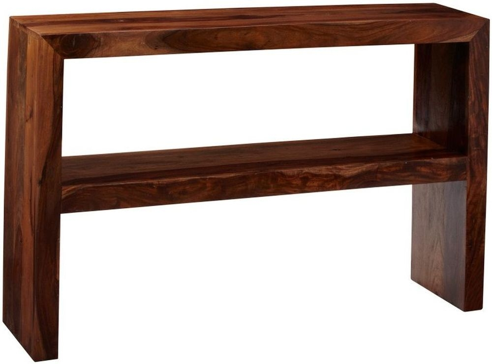 Buy Indian Hub Cube Sheesham Console Table with Shelf Online - CFS UK
