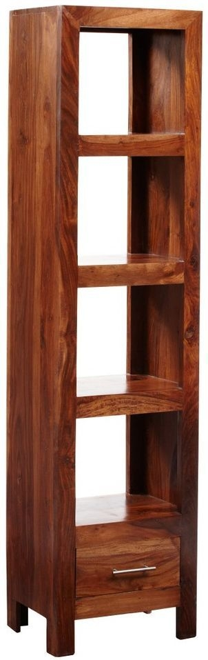 Indian Hub Cube Sheesham Slim Jim Bookcase