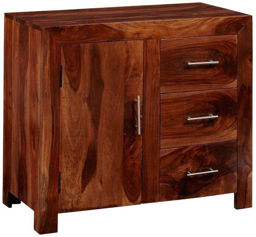 Indian Hub Cube Sheesham Small Sideboard