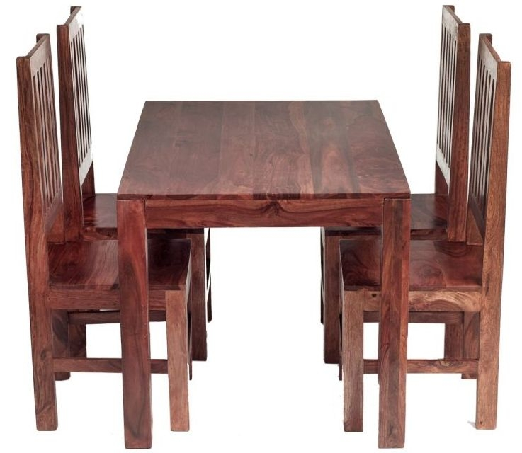 Indian Hub Cube Small Dining Set with Wooden Chairs