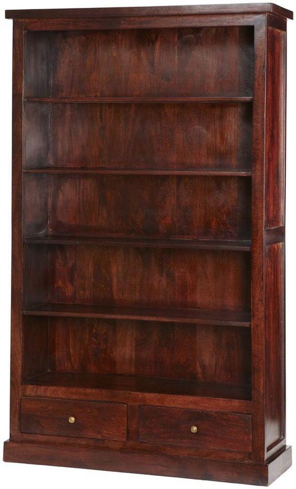 Indian Hub Jaipur Dark Mango 2 Drawer Bookcase