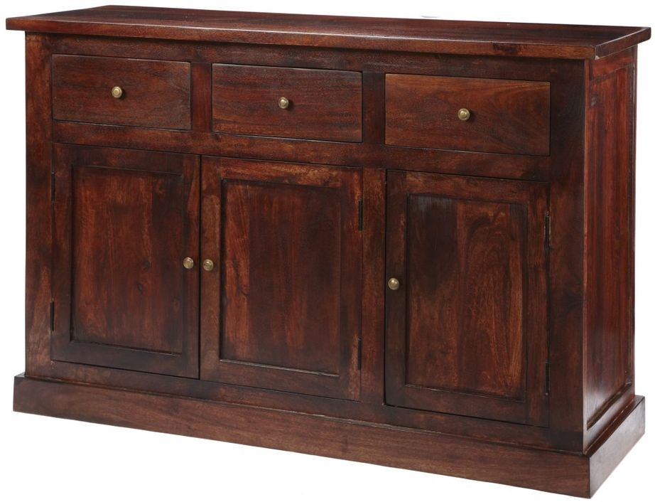 Indian hub jaipur dark mango sideboard large indian hub for Sideboard indien