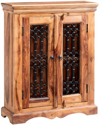 Indian Hub Jali Sheesham DVD Cabinet