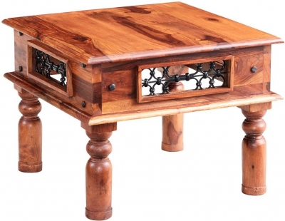 Indian Hub Jali Sheesham Small Coffee Table