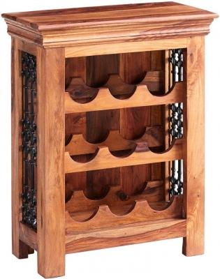 Indian Hub Jali Sheesham Wine Rack
