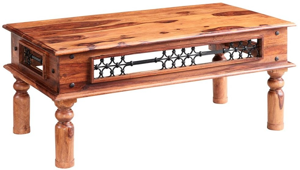Indian Hub Jali Sheesham Large Coffee Table