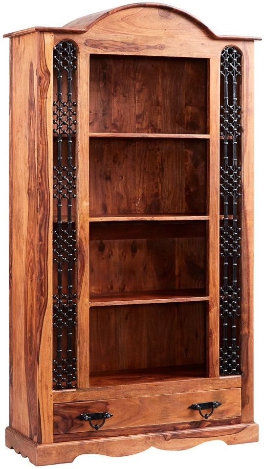 Indian Hub Jali Sheesham 1 Drawer Large Bookcase