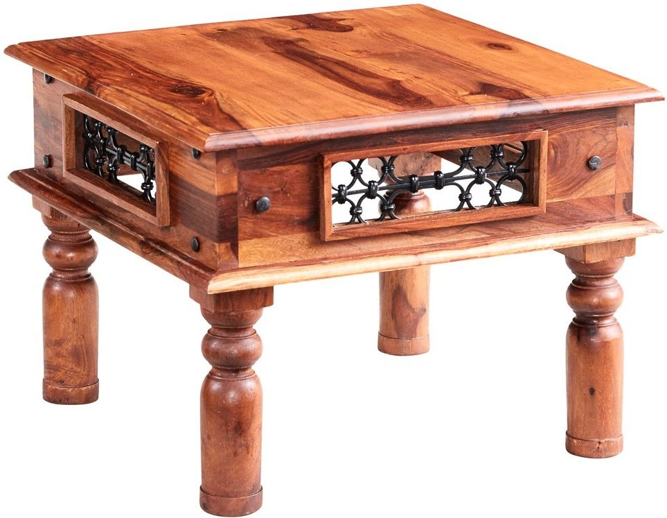 Buy indian hub jali sheesham small coffee table online for Tiny coffee table